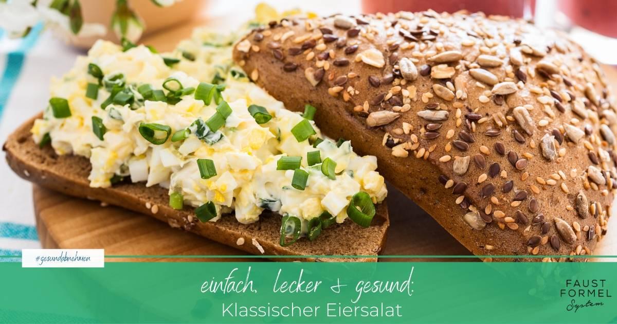 Einfaches Rezept für klassischen Eiersalat auf Brot